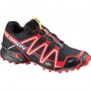 Salomon Spikecross 3 CS Black-Bright Red-Cane