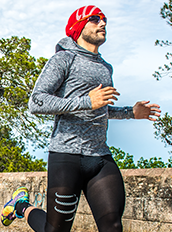 Compressport 3D Thermo Seamless Hoodie kapucnis felső