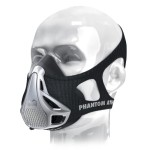 phantom training mask (black/silver)