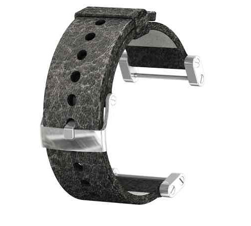 Suunto Cor Leather Black Matt Strap