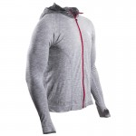 Compressport 3D Thermo Seamless Hoodie Born to SwimBikeRun kapucnis technikai felső