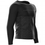 Compressport Training T-Shirt LS Black Edition férfi technikai póló