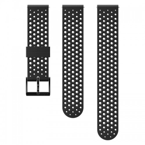 Suunto 20 mm Athletic 1 Silicone Strap Black/Black szilikon óraszíj