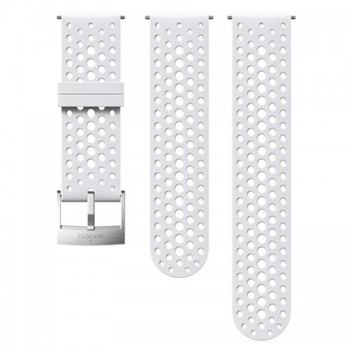 Suunto 24 mm Athletic 1 Silicone Strap White/Steel szilikon óraszíj