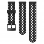 Suunto 24 mm Athletic 1 Silicone Strap Black/Black szilikon óraszíj