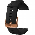 Suunto 24 mm Athletic 4 Silicone Strap Black/Copper szilikon óraszíj