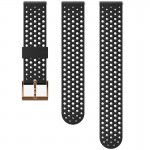 Suunto 20 mm Athletic 1 Silicone Strap Black/Copper szilikon óraszíj
