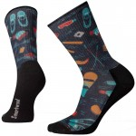 Smartwool M's Light Hut Trip Print Hiking Crew Socks uniszex gyapjú zokni